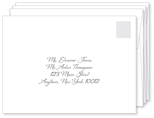 First impressions count a well addressed wedding for Examples of wedding invitation envelopes
