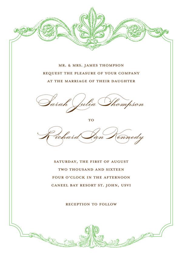 Scroll Design Wedding Invitations is amazing invitation example
